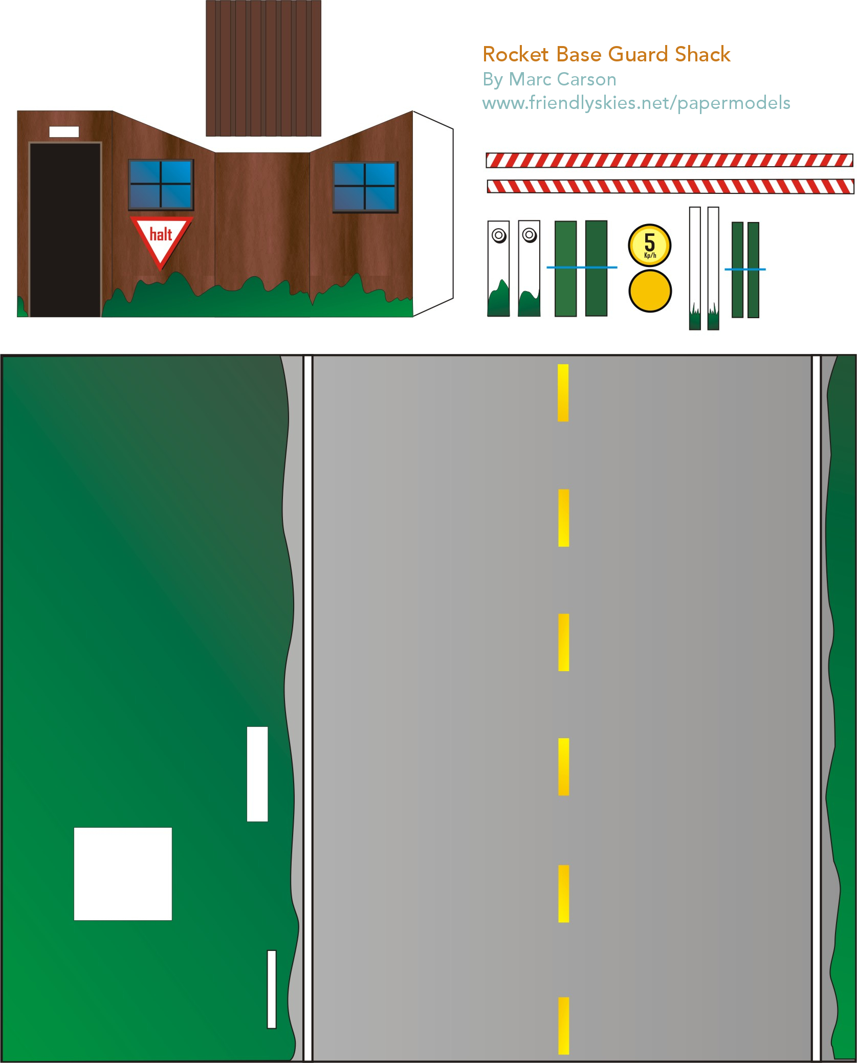 Free Guard Shack Paper Model Creative Projects And